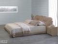 Двуспальная кровать 1022 с отделкой из натуральной кожи или из Эко Кожи
