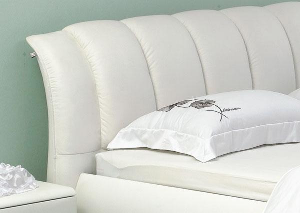 Двуспальная кровать из Эко Кожи, модель Грация 1100 (кровать 1041)