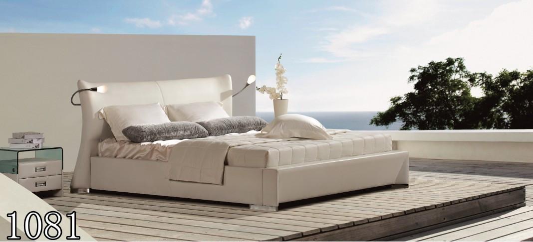 Двуспальная кровать 1081 из Эко Кожи или из натуральной кожи