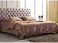 Кровать двуспальная кожаная, модель 1107