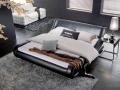 Двуспальная кровать AY-203А с отделкой из натуральной кожи или из Эко Кожи