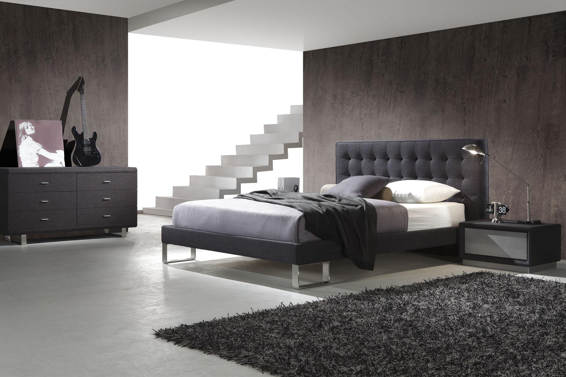 Двуспальная кровать AY-233 с отделкой из натуральной кожи или из Эко Кожи