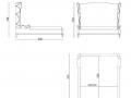 Двуспальная кровать Azalea-3