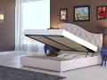 Двуспальная кожаная кровать Luvr 2