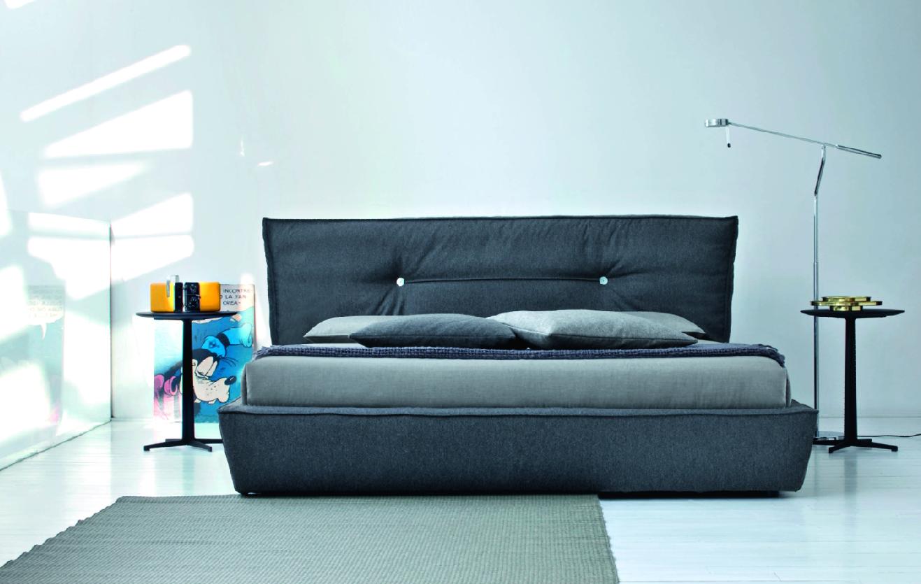 Двуспальная кожаная кровать Monica 2