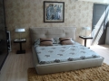 Двуспальная кожаная кровать Monica 1