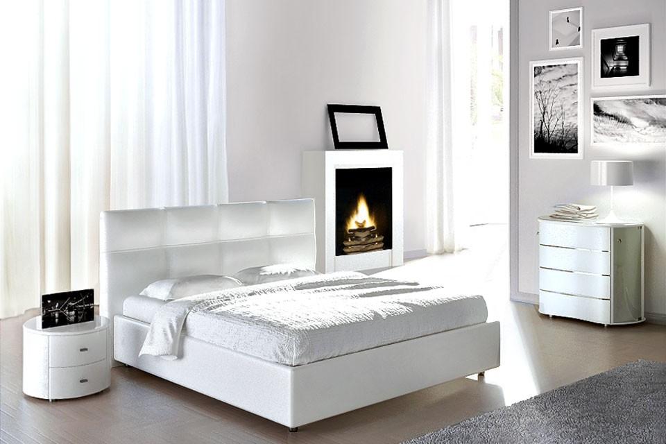 Двуспальная кожаная кровать Murena 4