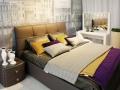 Двуспальная кожаная кровать Murena 3