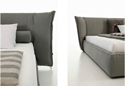 Двуспальная кожаная кровать Sandia 2