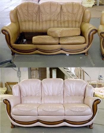 Реконструкция в рамках реставрации предметов мягкой мебели